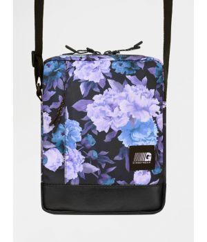 Сумка через плечо Messenger Copy Leather фиолетовые цветы