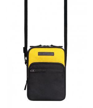 Сумка через плечо Dual, черный с желтым