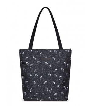 Сумка шоппер Elisse, черные одуванчики