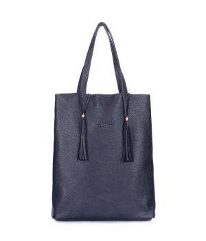 Темно-синяя кожаная сумка Angel, 64231