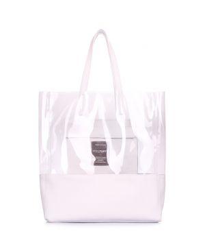 Прозрачная сумка с кожаными вставками Carrie, 64232