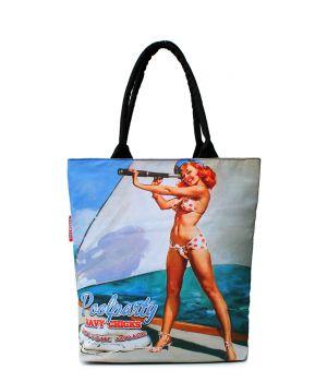 Текстильна сумка POOLPARTY з трендовим принтом, 5532