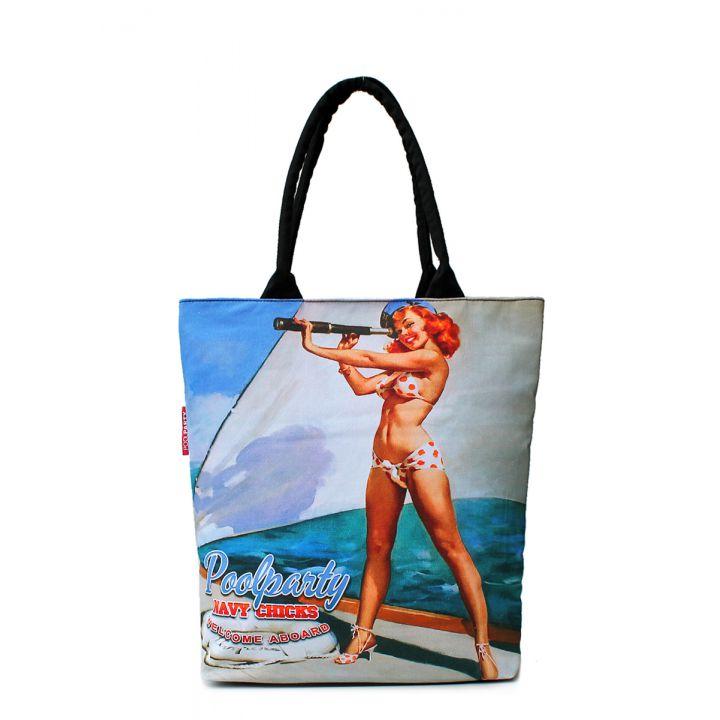 Текстильная сумка POOLPARTY с трендовым принтом, 5532