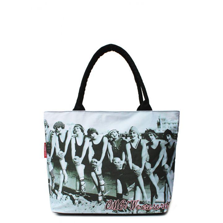 Текстильная сумка POOLPARTY с трендовым принтом, 5523