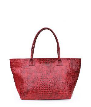 Кожаная сумка POOLPARTY Desire red