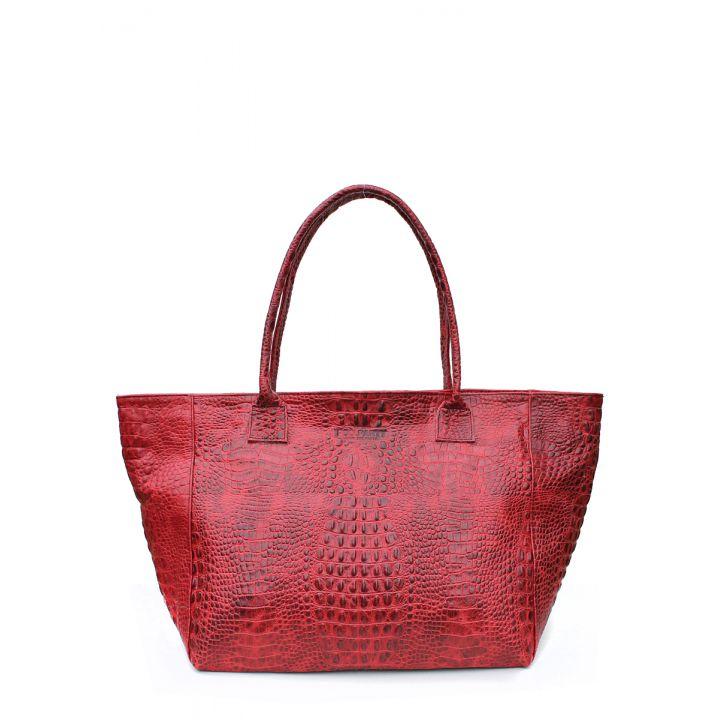 Шкіряна сумка POOLPARTY Desire red