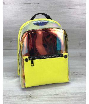 Женский рюкзак Бонни желтый перламутровый