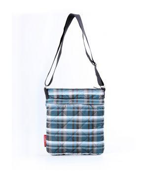 Стеганая сумка-планшет POOLPARTY в клетку, 5474