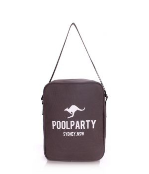 Чоловіча сумка POOLPARTY з ременем на плече, 5585