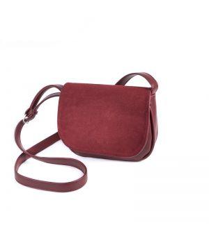 Женская сумочка с замшевым клапаном М55-75/замш