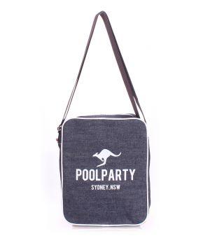 Джинсова сумка POOLPARTY з ременем, 5586