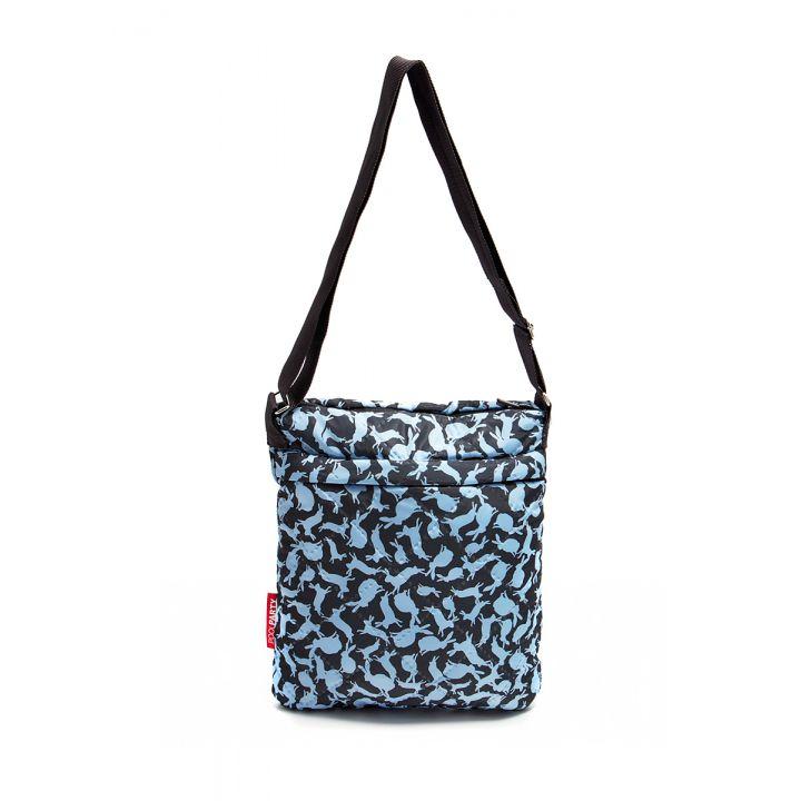 Стеганая сумка-планшет POOLPARTY в зайцах