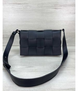 Женская сумка Bottega плетеная черная, 73767