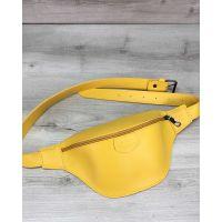 Женская сумка бананка Tery желтая