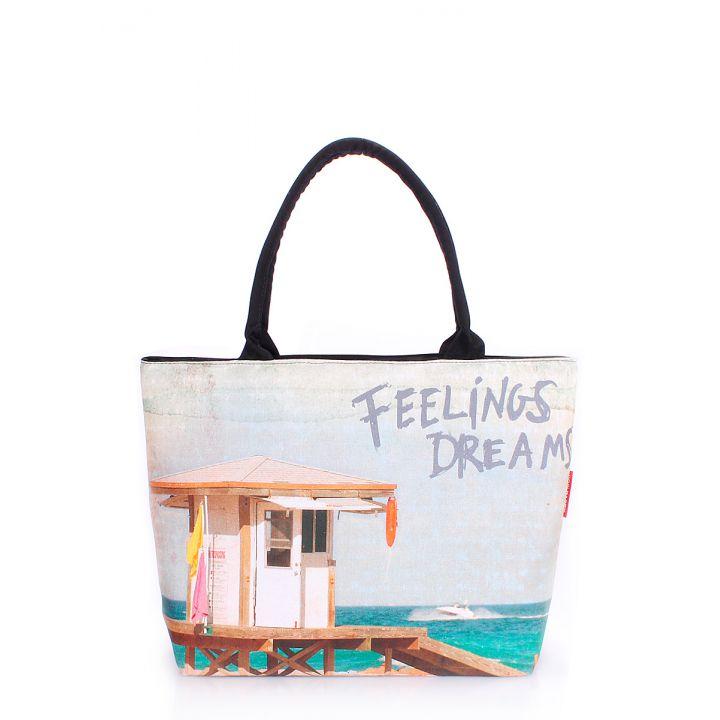 Текстильна сумка POOLPARTY з трендовим принтом