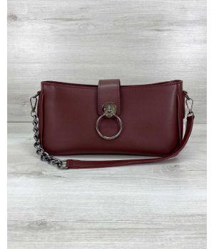 Женская сумка Эвери бордовая, 73858