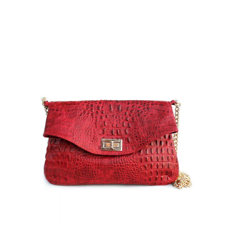 Кожаная сумочка-клатч POOLPARTY с цепочкой, 5719