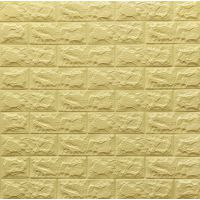 Самоклеющаяся декоративная 3D панель желто-песочный кирпич 700x770x7мм