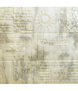 Самоклеющаяся декоративная 3D панель узорная 700x700x7,5мм