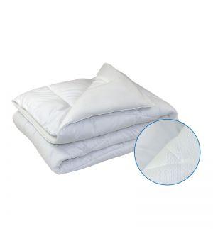"""Ковдра 140х205 """"Soft"""" тандем двох типів тканини, силіконова біла, 64856"""