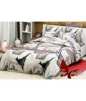 Семейный Комплект постельного белья Париж 2