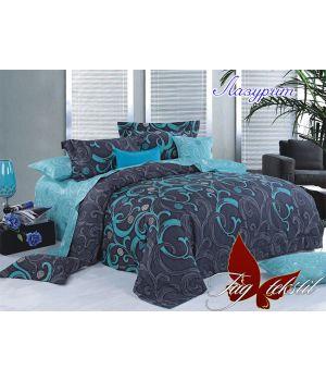 Семейный Комплект постельного белья с компаньоном Лазурит