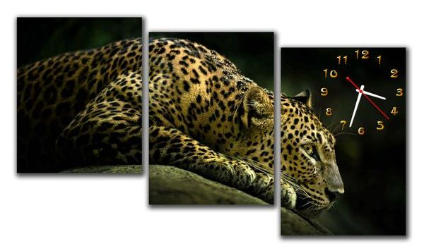 часы картина настенные большие с животными