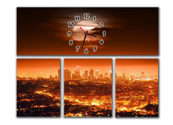 Часы Вечерний Мегаполис