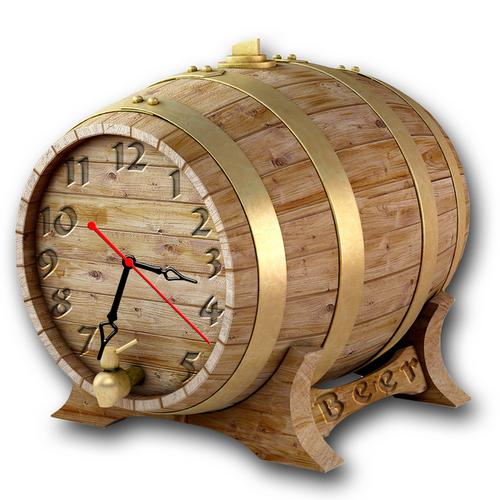 Часы Бочонок Пива