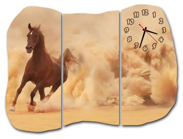 Идеи настенных часов в интерьере: Модульные часы